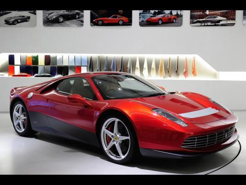 عکس و والپیپر ماشین فراری دو در اسپرت قرمز Ferrari