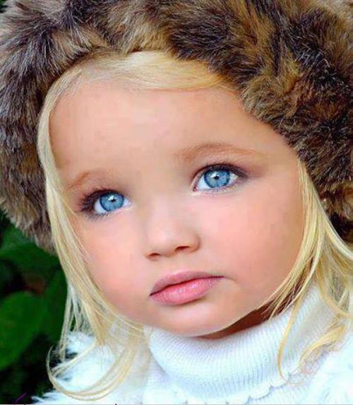 عکس های دختر با چشمهای رنگی بچه ملوس -4 عکس دختر با چشمهای رنگی