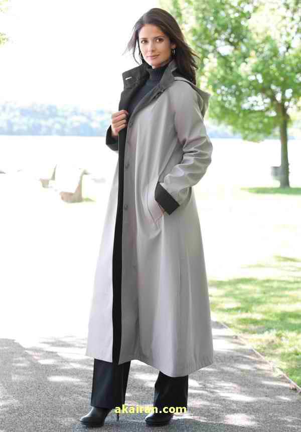 عکس مانتو بلند سفید و خاکستری رنگ-مد لباس مانتو بلند