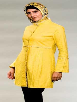 مد لباس مانتو با رنگ های شاد و متنوع