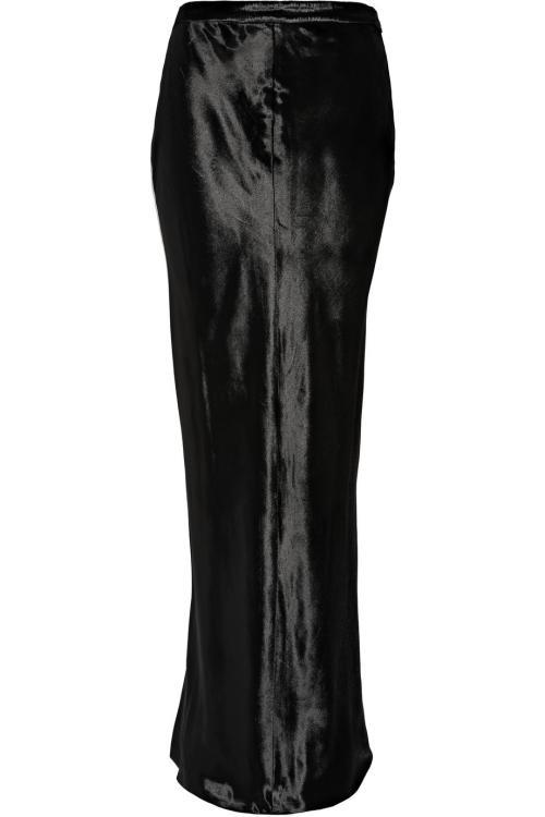 مد و عکس دامن بلند سیاه براق و قشنگ