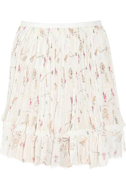 مد لباس زنانه-دامن های سفید همراه طرح های زیبا