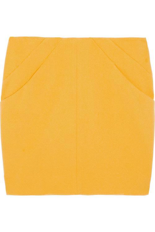مد لباس زنانه-دامن های زرد و سبز رنگ