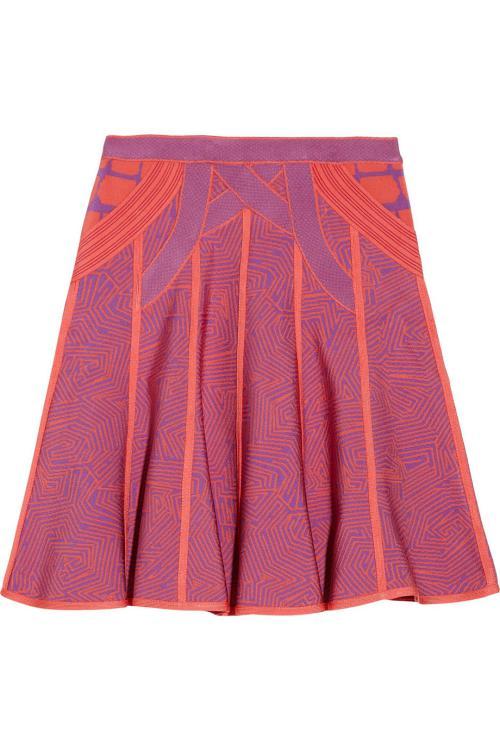 مد لباس زنانه-دامن های بنفش رنگ شیک