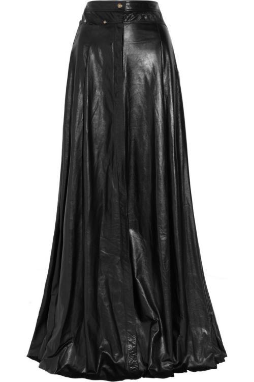 عکس لباس ها چرمی-مد دامن های چرم