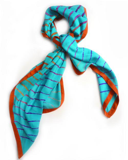 مدل روسری با رنگ های شاد قشنگ و متنوع