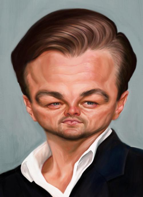 کاریکاتورهای بامزه-عکس لئوناردو دی کاپری leonardo diCaprio