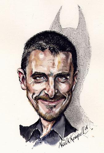 کاریکاتورهای جذاب و جالب-عکس کریستین بیل christian bale