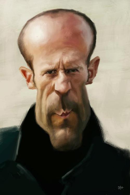 عکس های خنده دار از بازیگران-کاریکاتور جیسون استاتهام jason statham