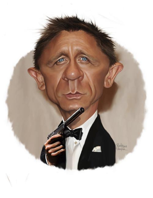 عکس های دنیل کریگ daniel craig-کاریکاتورهای جیمزباند 007