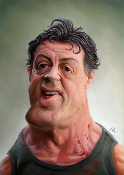 کاریکاتور باحال از سیلوستر استالونه sylvester stallone-عکس