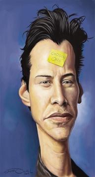عکس کیانو ریوز keanu reeves-کاریکاتور ماتریکس