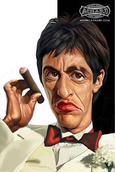 کاریکاتور آل پاچینو al pacino-عکس های خنده دار