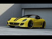 عکس و والپیپر ماشین فراری دو در زرد Ferrari 599 GTO