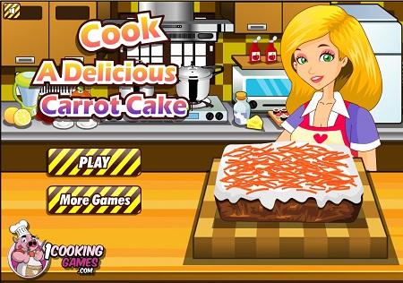 بازی فلش آنلاین دخترانه آشپزی کیک هویج آسان به همراه دانلود