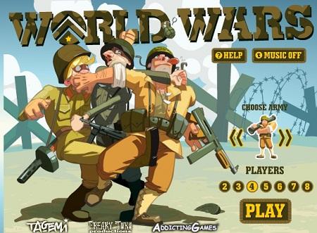 بازی آنلاین استراتژیک چند نفره جذاب و دوست داشتنی جنگ جهانی Word Wars