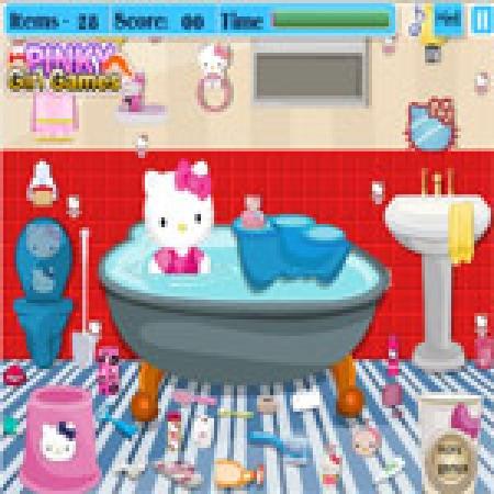 دانلود  بازی دخترانه حمام کیتی - بازی آنلاین