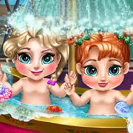 دانلود  بازی دخترانه حمام کودکان - بازی آنلاین