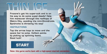 بازی آنلاین شگفت انگیزان -مرد یخی