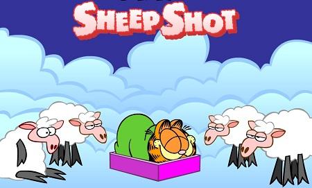 بازی آنلاین گارفیلد -شلیک گوسفندان garfield sheep shot