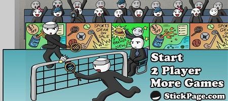 بازی آنلاین بدمینتون -Play Stick Figure Badminton