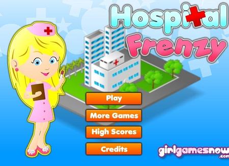 بازی آنلاین مدیریت بیمارستان مرحله ای-Hospital Frenzy