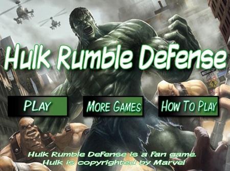 بازی آنلاین هالک محافظ رمبل ها -Hulk Rumble Defense