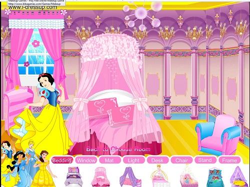 بازی تزیین اتاق برای شخصیت های کارتوین والدیزنی