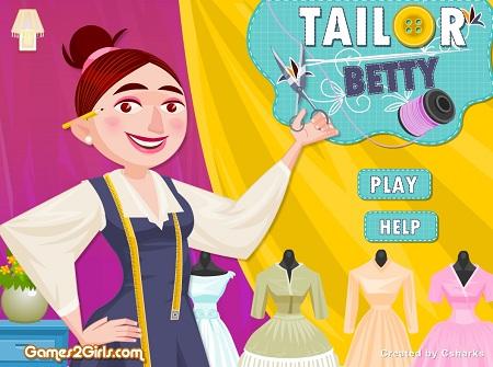 بازی آنلاین خیاطی- مدیریت خیاطی Tailor Betty