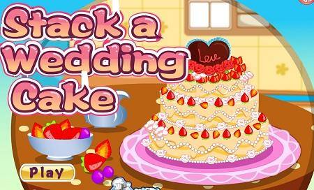 بازی کیک پزی آنلاین آماده کردن کیک عروسیstack a wedding  cake