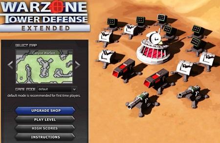 بازی دفاع از قلعه : منطقه جنگ Warzone Tower Defense Extended