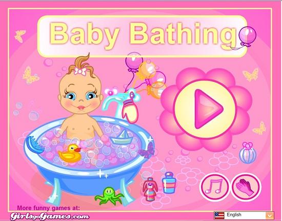 دانلود بازی آنلاین baby حمام بچه