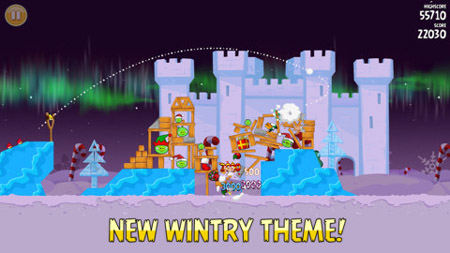 بازی موبایل اندروید پرندگان خشمگین :فصل ها زمستان Rovio Angry Birds Seasons: Winter Wonderham