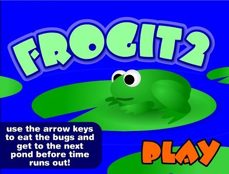 بازی آنلاین برای کودکان با کیبرد:قورباغه ها Frogit