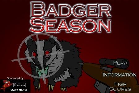 بازی فلش آنلاین فصل شکار Hunting Season: Badger Season