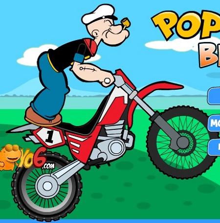بازی آنلاین موتورسواری ملوان زبل Popeye Bike