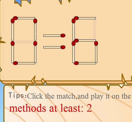 بازی فکری با چوب کبریت match math