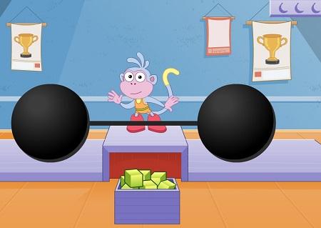 بازی فکری و سرگرم کننده کودکان : وزنه برداری فکری weight lifting