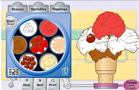 دانلود بازی آنلاین تزئین بستنی قیفی