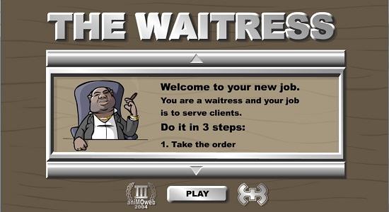 بازی آنلاین آشپزی درباره پیشخدمت زن