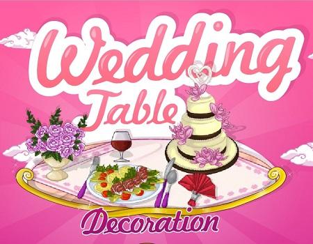 بازی آنلاین دخترانه عروسی :تزیین میز عروسی wedding table decoration