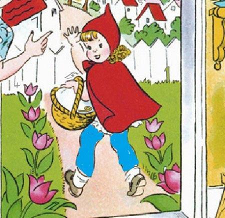 بازی آنلاین پیدا کردن اعداد در عکس شنل قرمزی little Riding Hood girl hidden number