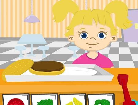 بازی مغازه داری و مدیریت رستوران کودکان  burger corner