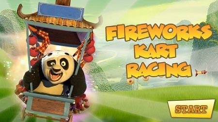 بازی مرحله ای پاندا کنگفو کار آنلاین kung fu panda Racing