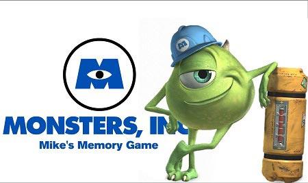 بازی آنلاین تست حافظه کارخانه هیولاها monsters inc