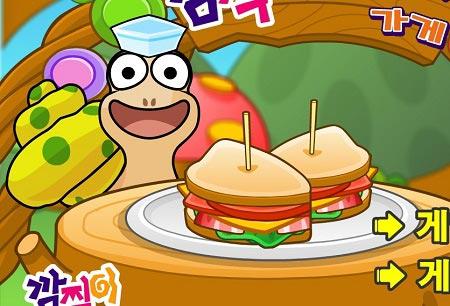 بازی آموزش زبان برای کودکان :ساندویچ حلزون ها