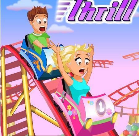 بازی قطار : ترن هوایی ترسناک thrill rush