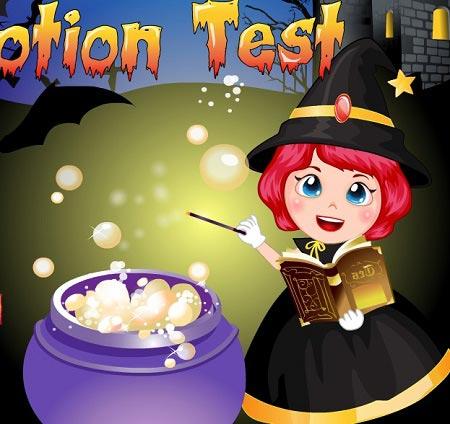 بازی آشپزی دخترانه آزمون معجون هالووین halloween potion test