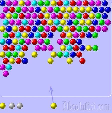 بازی حدف خانه های همرنگ با تیر اندازی bubble shooter
