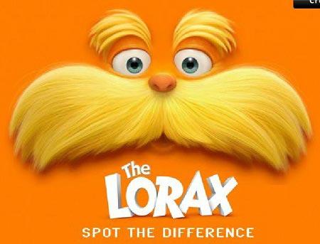 بازی آنلاین لوراکس پیداکردن تفاوت ها the lorax spot the difference